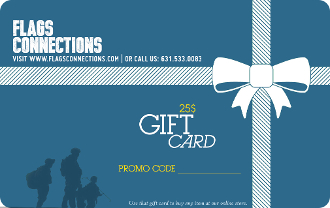 $25 Gift Card For Purchase on the Flags Connections Web Site