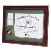 Army Medallion frame, Army medal and photo frame