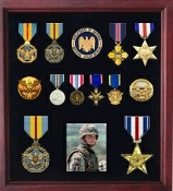 Military Medal Display case, American medal Shadowbox