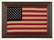 Framed American Flag, Wall Framed American Flag