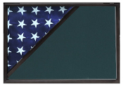 Shadow box to hold a 5' X 9.5' flag, Black Finish