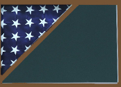 Shadow box to hold a 5' X 9.5' flag, Walnut Finish