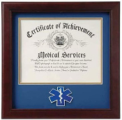 First Responder Certificate and Picture Frame with Medallion