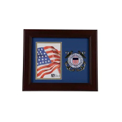 US Coast Guard Medallion 4-Inch x 6-Inch Portrait Picture Frame