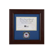 US Coast Guard Medallion 4-Inch x 6-Inch Landscape Picture Frame