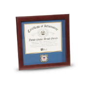U.S. Coast Guard Medallion 8-Inch by 10-Inch Certificate Frame