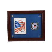 "US Coast Guard Medallion 5"" x 7"" Picture Frame with Stars"