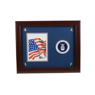 US Air Force Medallion 5-Inch x 7-Inch Picture Frame with Stars