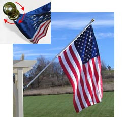 Spinning Flagpole House Set with Fixed Bracket without flag