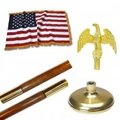 Indoor 9ft American Indoor Flag Set by Valley Forge - American Made Flag Pole.