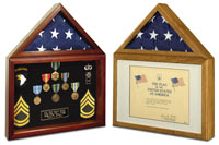Create a perfect display for your 3 x 5 flag and accompanying certificate or medals. Ideal for storage of flags flown over the Capitol along with certificate.