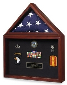 Marine Corps Flag Shadowbox Awards Medals