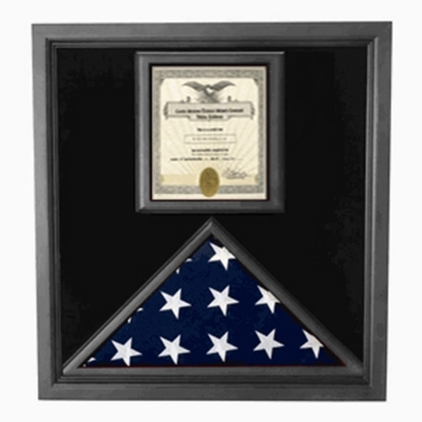 Flag and Certificate Case - Black Frame, American Made