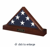 Military Flag case Pedestal Urn, Military Flag case and Pedestal Urn, flag display and urn, military burial flag display,