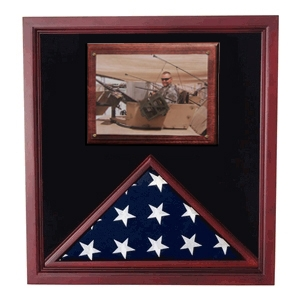 Military Flag and photo Holder