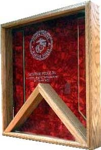 Retirement Flag Case Marine Corp