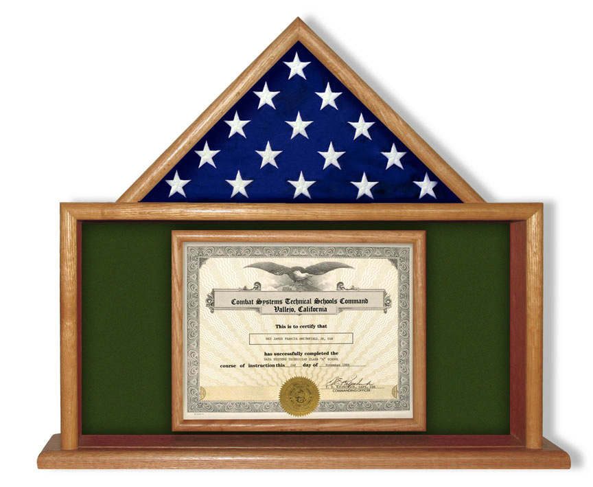 usmc flag certificate display case, flag certificate display case