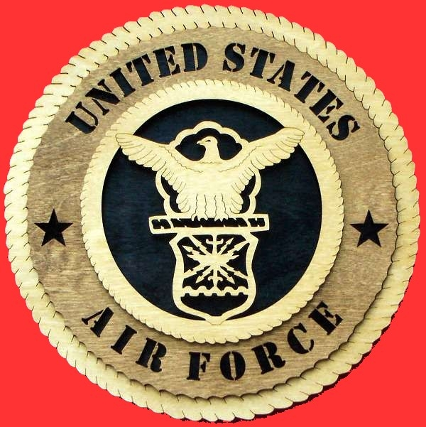 Air force  Wall Tribute,Air force Wood Wall Tribute,USAF emblem