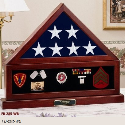 Flag and Pedestal Display Case