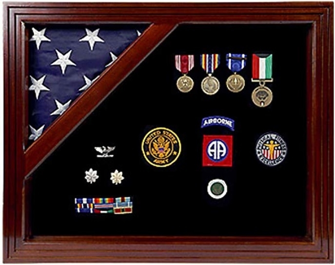Military Award Shadow Box with Display Case