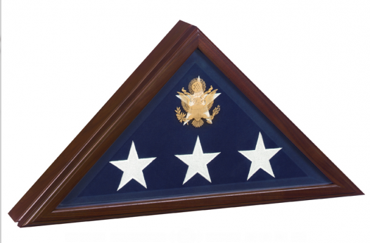 Memorial Flag Display Case - Presidential Flag Case – Cherry