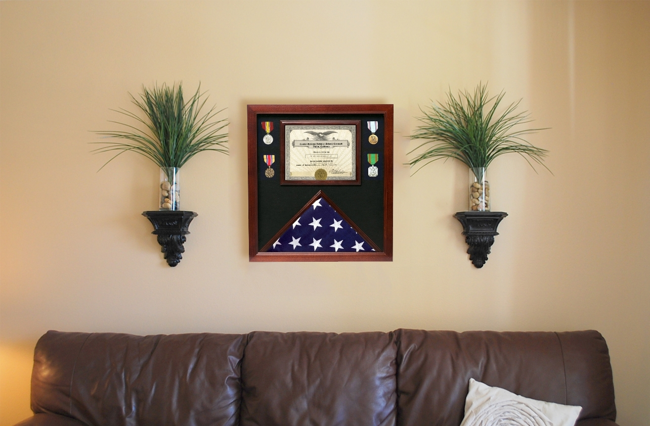 Flag Display Cases With Certificate Holder
